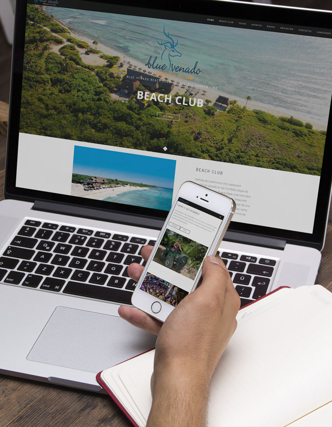 Website development for Blue Venado Beach Club Playa del Carmen