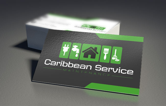 logo and business card design caribbean service