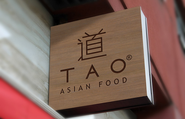 Logo design and menu restaurant sushi tao