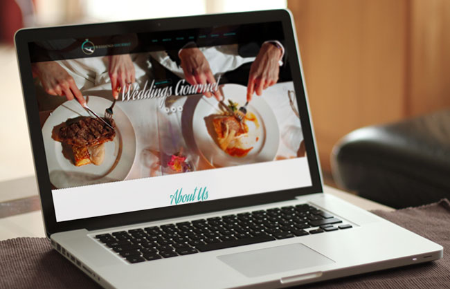 web design for Weddings Gourmet